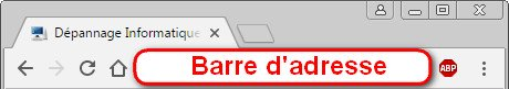 Barre d'adresse de Google Chrome